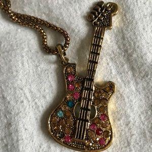 Jewelry - Guitar Pendant Necklace